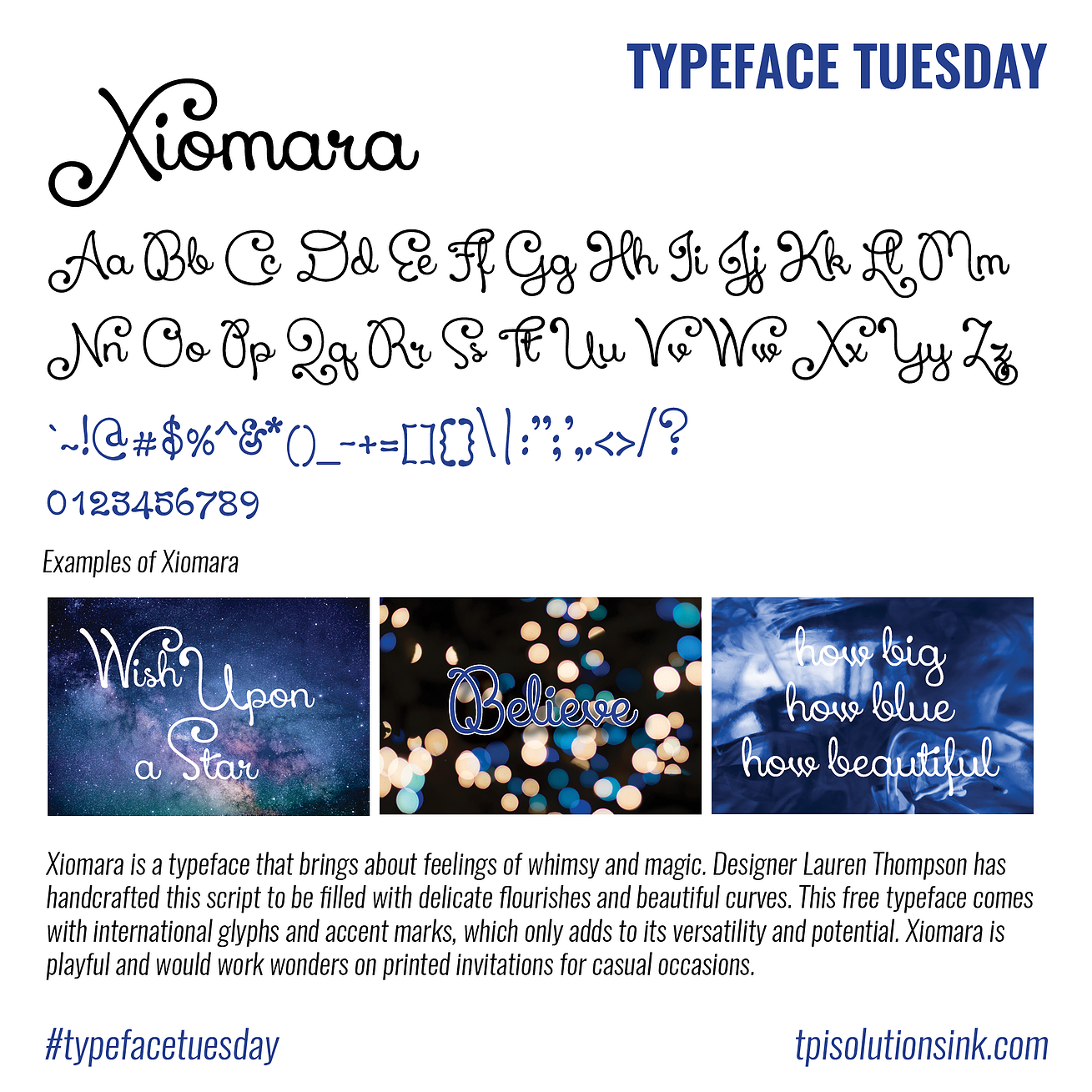 Typeface Tuesday – Xiomara