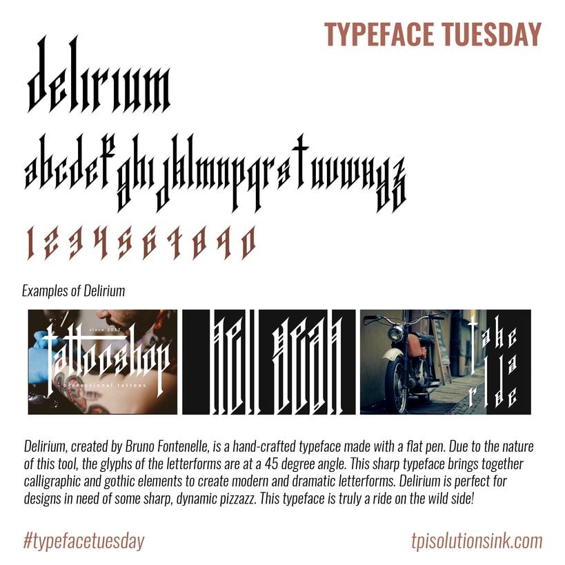 Typeface Tuesday – Delirium