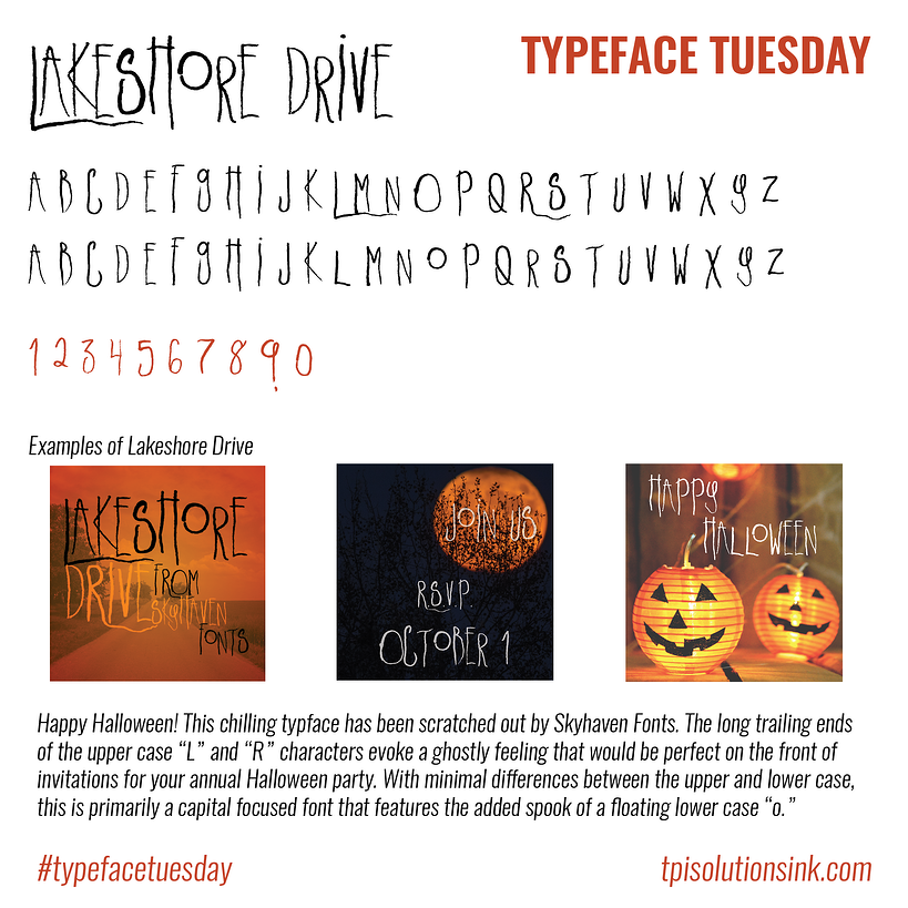 Typeface Tuesday – Lakeshore Drive