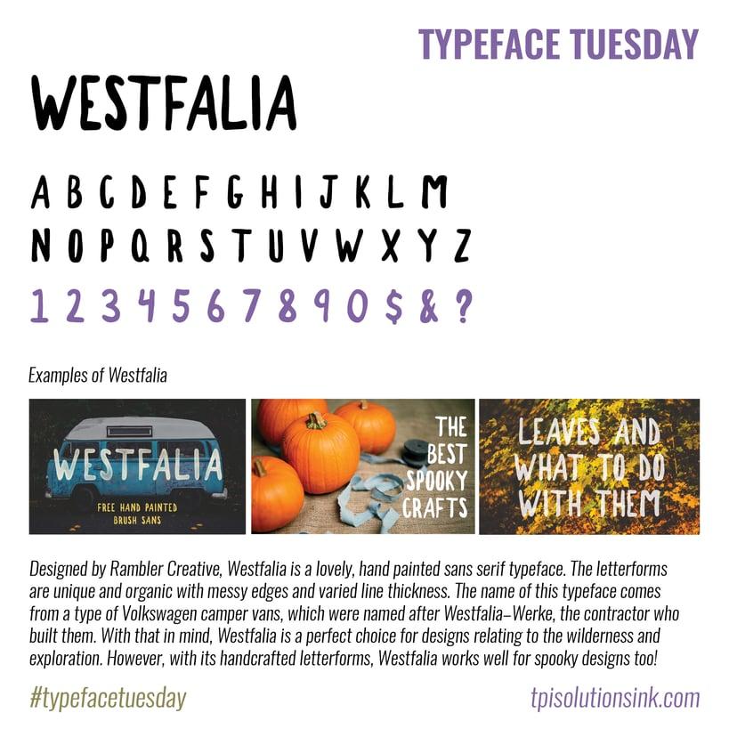 Typeface Tuesday – Westfalia