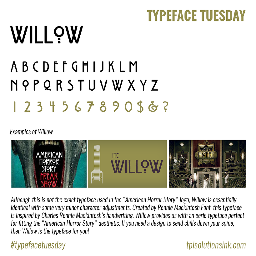 Typeface Tuesday – Willow