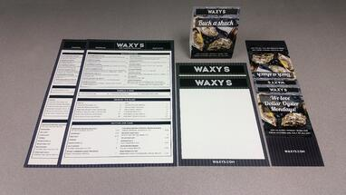 Waxy's Menus & Table Tents, that's #WhatsOnPress at TPI Solutions Ink.