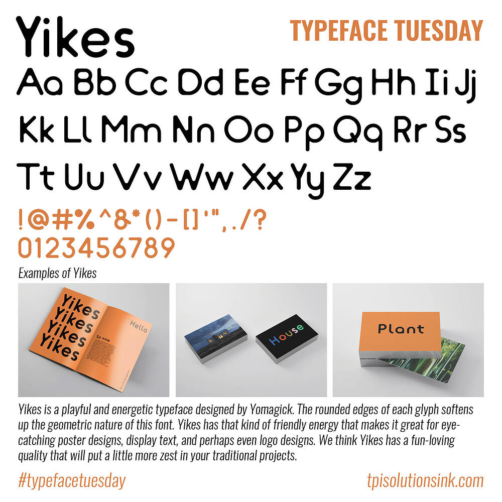 Typeface Tuesday – Yikes