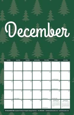 December 2020 Free Calendar Download - Printable