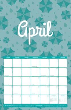 April 2020 Free Calendar Download - Printable