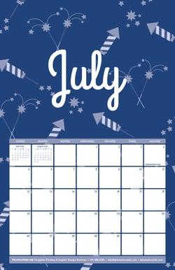 July 2020 Free Calendar Download - Printable