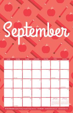 September 2020 Free Calendar Download - Printable