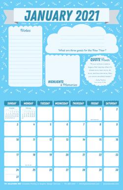 January 2021 Free Calendar Download - Printable