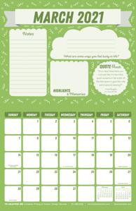Free 2021 March Motivational Calendar