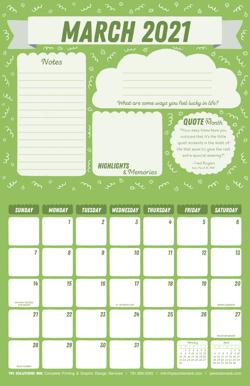 March 2021 Free Calendar Download - Printable