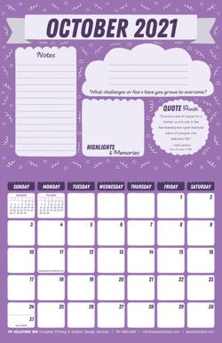 October 2021 Free Calendar Download - Printable