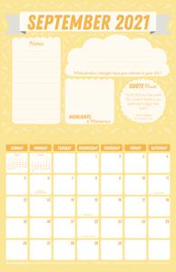 Free 2021 September Motivational Calendar