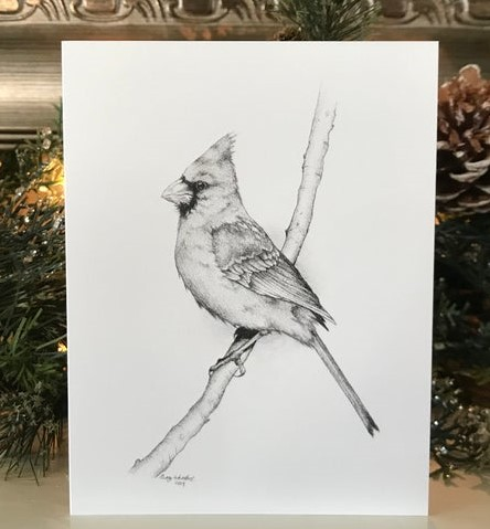 Avery Whitlock Cardinal Note Cards