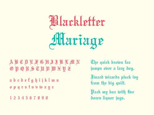 Blackletter Script - Typography 101 TPI Solutions Ink
