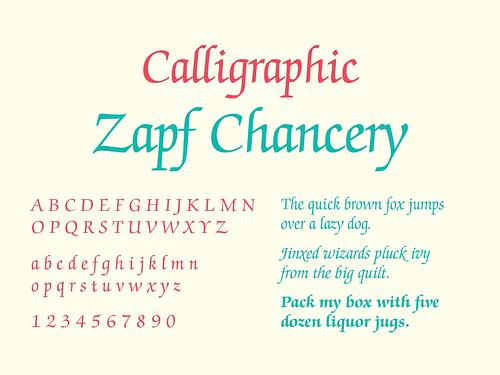 Calligraphic Script - Typography 101 TPI Solutions Ink