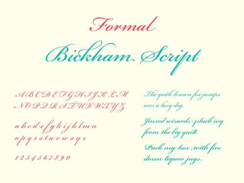 Formal Script: Typography 101 TPI Solutions Ink