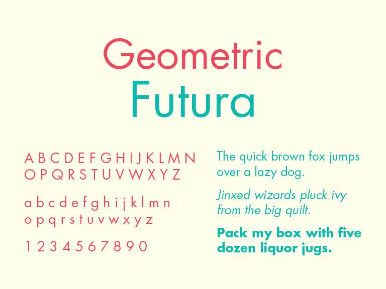 Geometric Sans Serif Typeface, Futura, TPI Solutions Ink