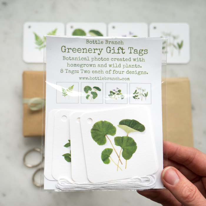 Bottle Branch Greenery Gift Tags